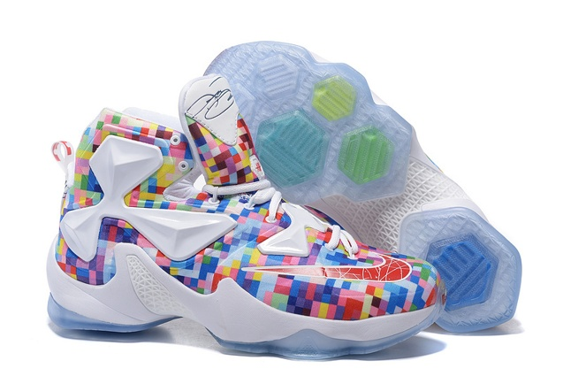 3abc5b9160f Prev Nike Lebron XIII LBJ13 White Colorful Men Basketball Shoes 835659