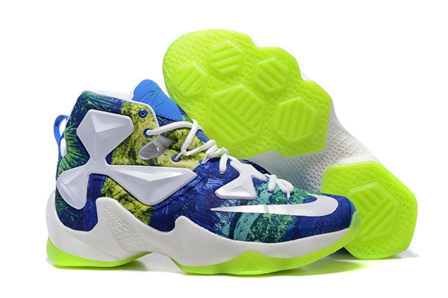 differently 9c1a2 bf85a Prev Nike Lebron XIII LBJ13 Golw Men Basketball Shoes White Blue Green  Pastoral 835659. Zoom