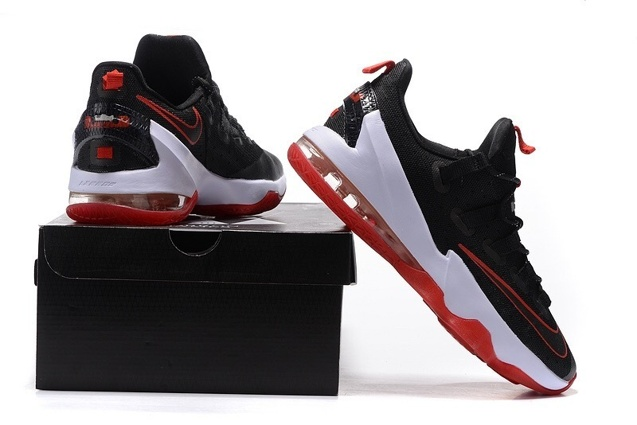 25f20c6beafad ... Nike Lebron XIII Low EP 13 James Bred Black Red White Men Basketball  Shoes 831926- ...