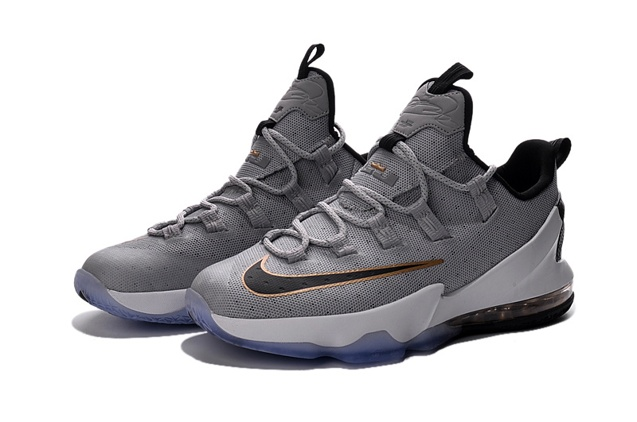 5f4916179c57 ... Nike Lebron XIII Low EP 13 James Men Basketball Sneakers Shoes Wolf Grey  Black Gold 831926 ...