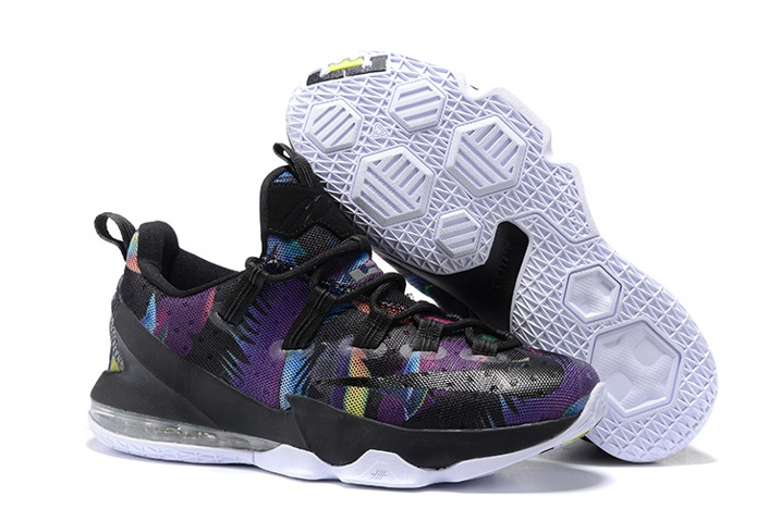 online store d643d 81c36 Prev Nike Lebron XIII Low EP James 13 Black Rainbow Men Basketball Shoes  831926-051