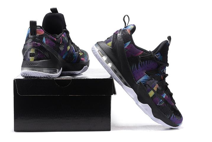 new product c4f7b 8bb8f Nike Lebron XIII Low EP James 13 Black Rainbow Men Basketball Shoes  831926-051