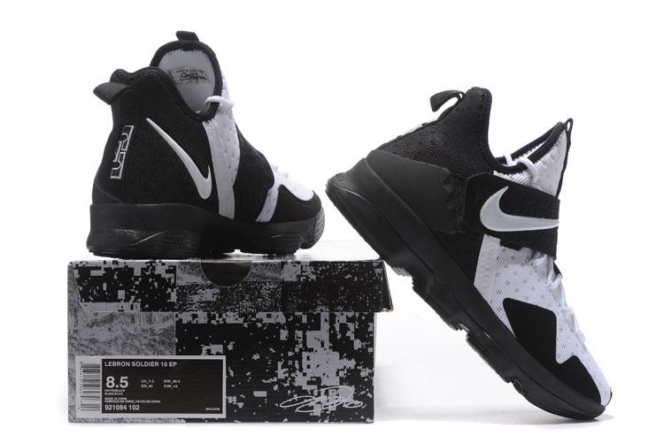 33e51083c1091a ... Nike Lebron XIV EP 14 Lebron James black white Men Basketball Shoes  921084-102
