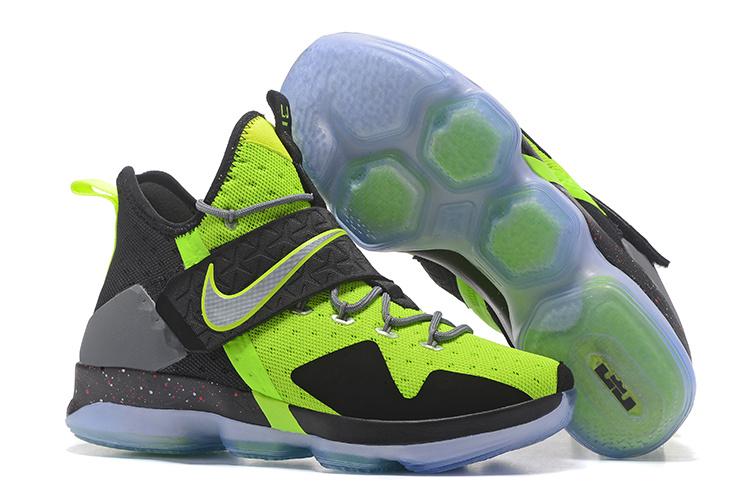 best service 5008e ae877 Nike Lebron XIV EP 14 Lebron James green black Men Basketball Shoes ...