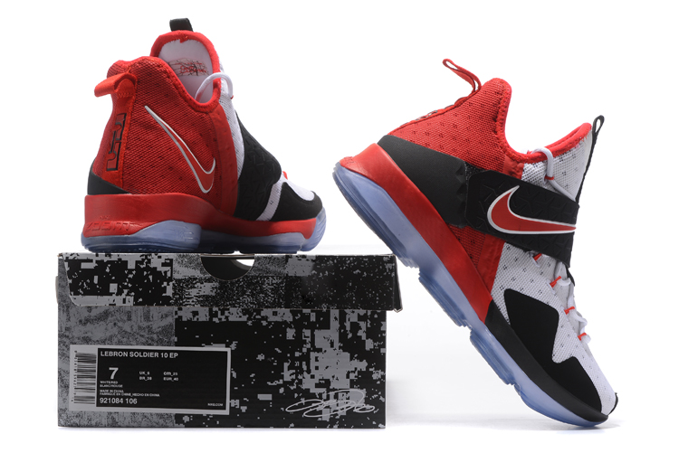 5fc614f096f ... Nike Lebron XIV EP 14 Lebron James red black white Men Basketball Shoes  921084-106