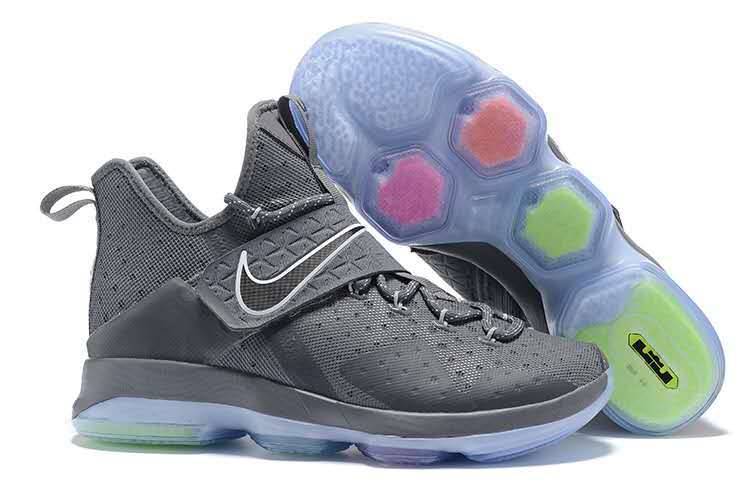 b8df4e9feee Nike Zoom Lebron XIV 14 Wolf Grey Men Basketball Shoes 921084 - Febbuy