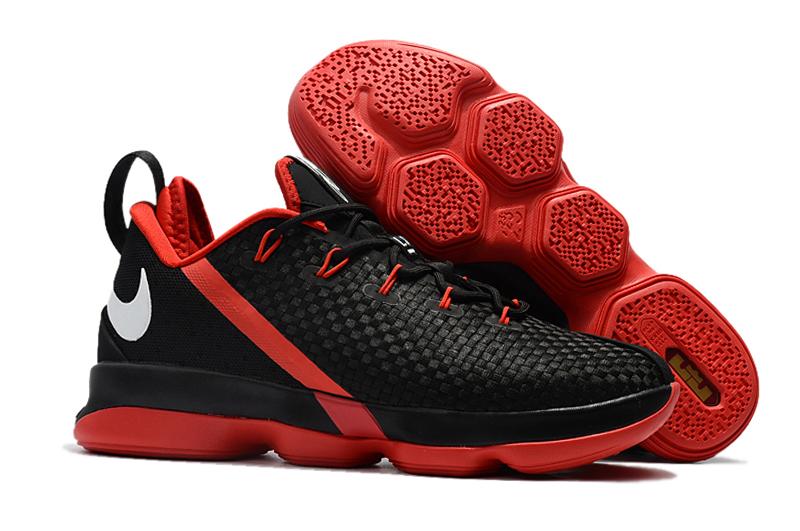 quality design 243d1 47524 Nike Zoom Lebron XIV 14 Low Men Basketball Shoes Black Red