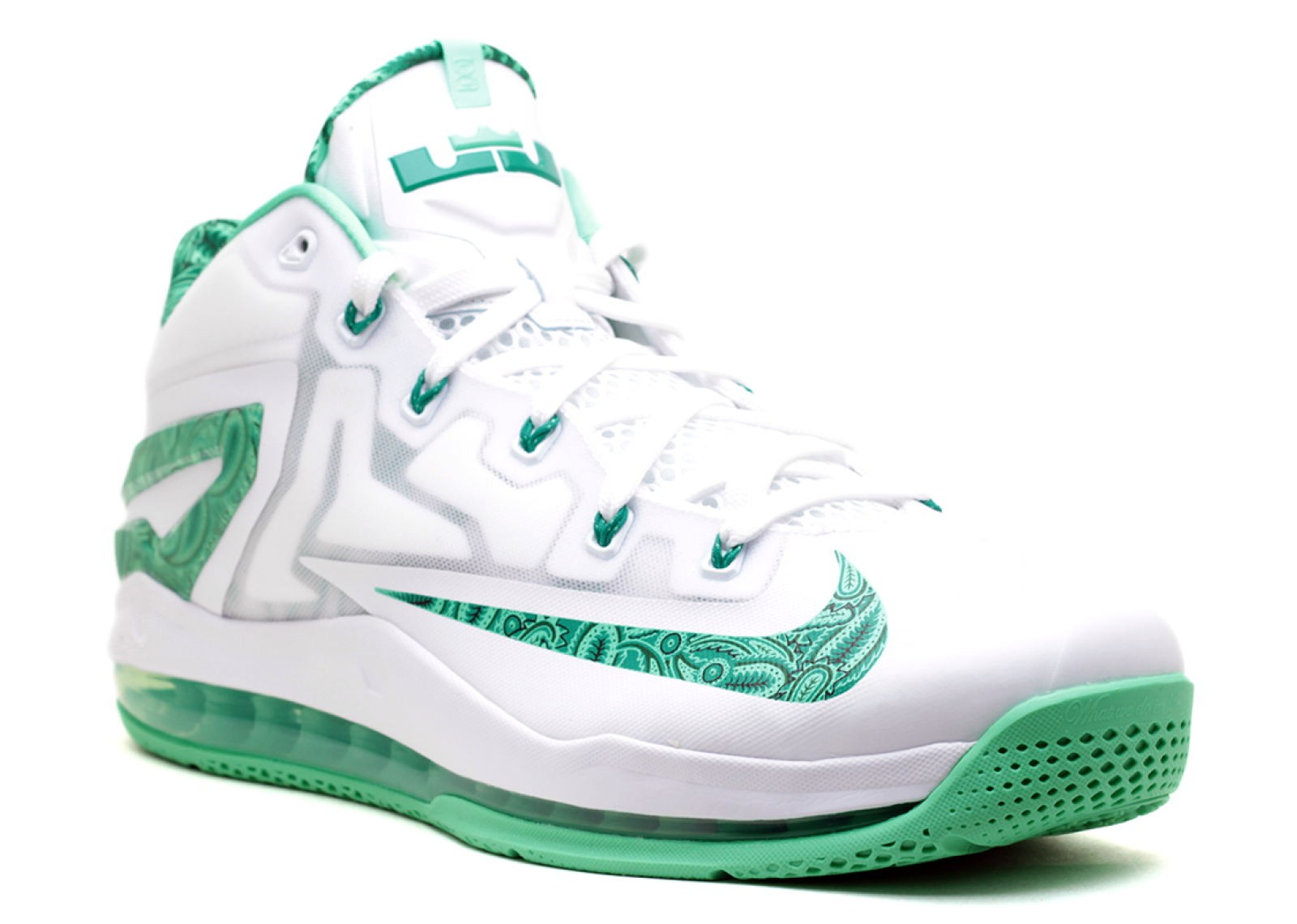 c6b297a92afd Max Lebron 11 Low Easter Green White Ltlcd Lcd Metallic 642849-100 ...