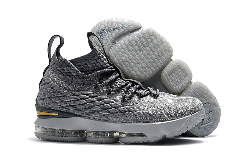 premium selection 4645e 549c1 Prev Nike Zoom Lebron XV 15 Men Basketball Shoes Gold All Grey. Zoom