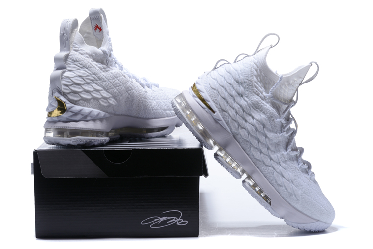sneakers for cheap ad4a6 0f00a white and gold lebron sneakers