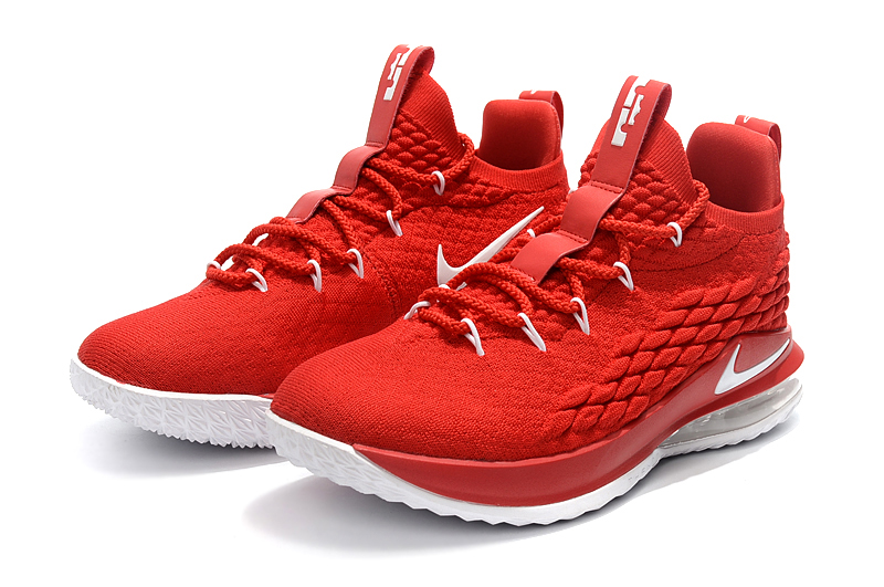 89bf38d9e1e4 Nike Zoom Lebron XV 15 Low Men Basketball Shoes Hot Chinese Red - Febbuy
