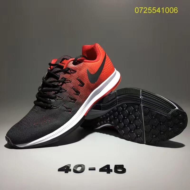Nike Air Zoom Pegasus 33 Men Running Shoes Black Red