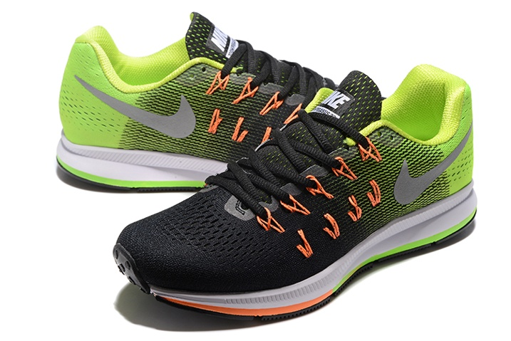finest selection 92d5d 2d1f0 ... Nike Air Zoom Pegasus 33 Men Running Shoes Green Black Silver  831352-006 ...