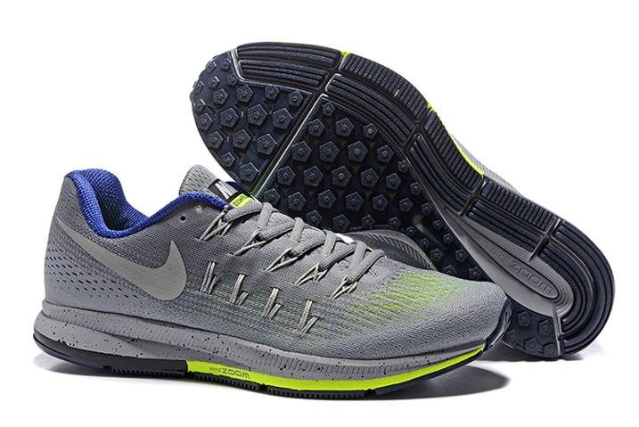 05c4b14be19a61 Prev Nike Air Zoom Pegasus 33 Men Running Shoes Light Grey Silver Flu Green  831352. Zoom