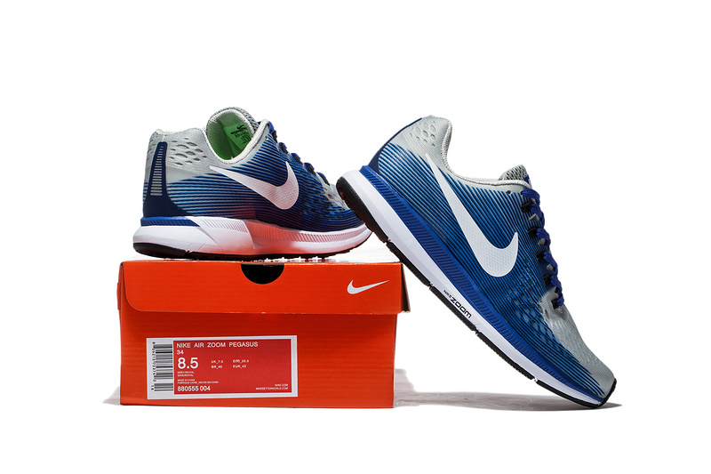 b2ca23fc60f Nike Air Zoom Pegasus 34 EM Light Blue White Men Running Shoes Sneakers  Trainers 880555-004