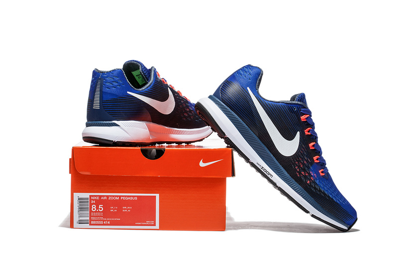 807f936f Nike Air Zoom Pegasus 34 EM Navy Blue White Men Running Shoes Sneakers  Trainers 880555-414