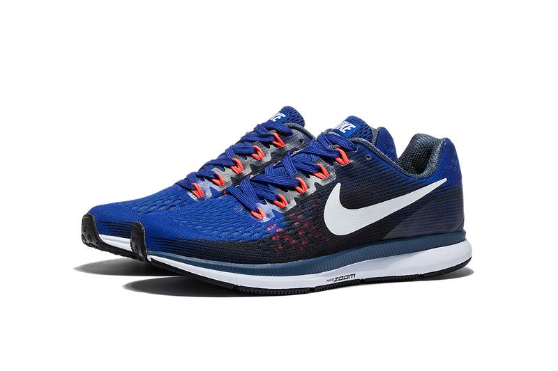 d003df52636 Nike Air Zoom Pegasus 34 EM Navy Blue White Men Running Shoes Sneakers  Trainers 880555-414