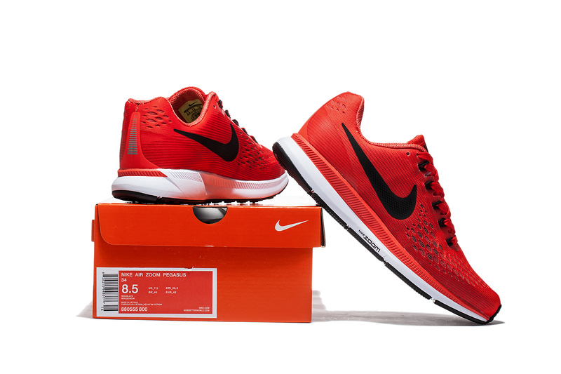 ... Nike Air Zoom Pegasus 34 EM Pure Red White Men Running Shoes Sneakers  Trainers 880555- ... d36a03d66