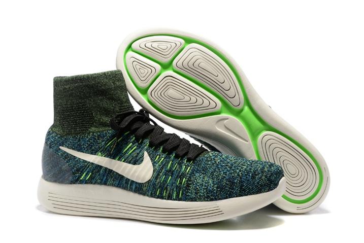 1e8b7ba661b1 Nike Lunarepic Flyknit Green Black Men Running Trainers Sneakers ...