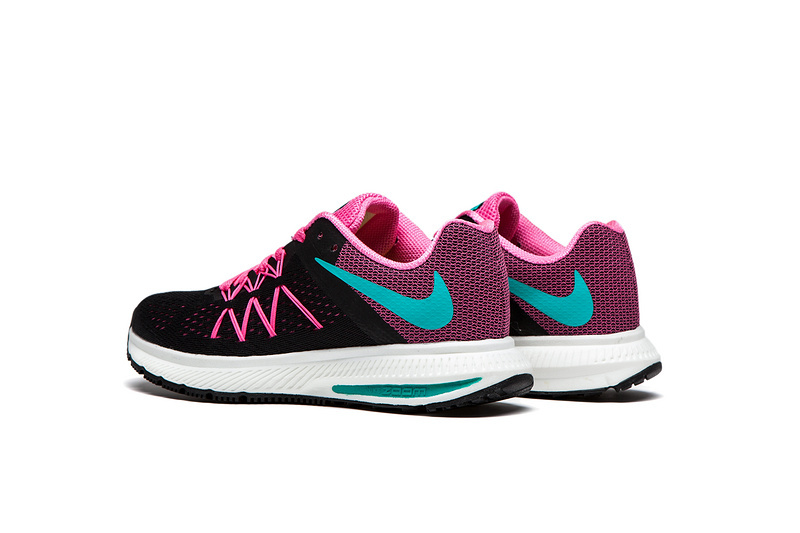 pretty nice 25be0 42b91 ... where can i buy nike zoom winflo 3 black peach pink women running shoes  sneakers trainers