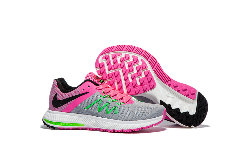 new product 03b0a 046c8 Nike Zoom Winflo 3 Peach Pink Grey Women Running Shoes Sneakers ...