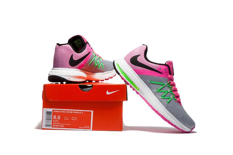 c4503da7a377e ... Nike Zoom Winflo 3 Peach Pink Grey Women Running Shoes Sneakers  Trainers 831561-003 ...