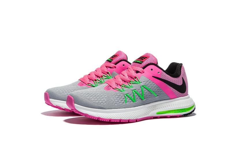 new arrival eae23 de575 ... Nike Zoom Winflo 3 Peach Pink Grey Women Running Shoes Sneakers  Trainers 831561-003 ...