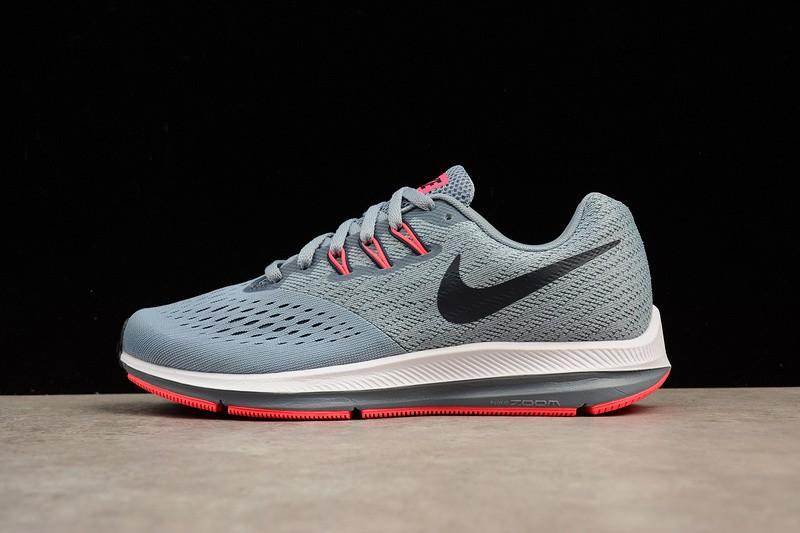 buy online 1685b dd24b Nike Air Zoom Winflo 4 Wolf Grey Black Crimson 898485-002