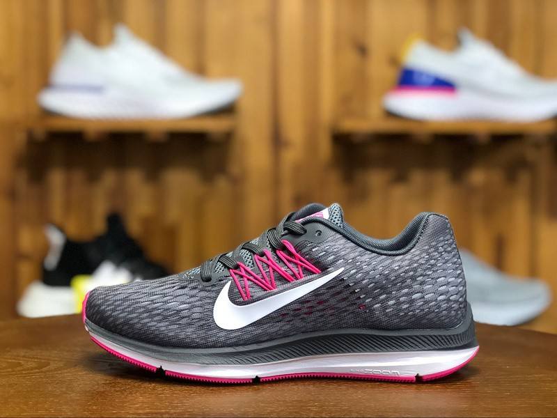 new concept c6dae c16bb Nike Air Zoom Winflo 5 Running Shoes Grey Pink AA7414-011