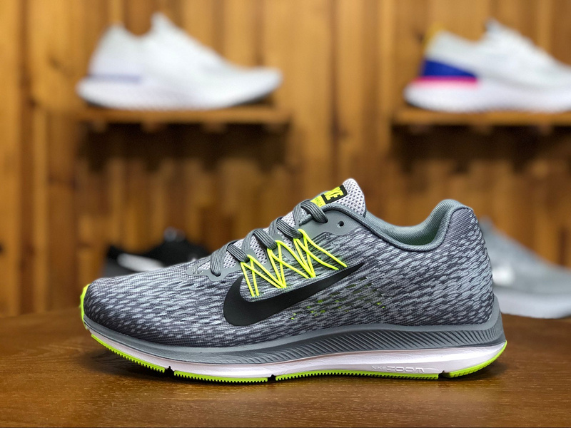 f7fe996694dc Prev Nike Zoom Winflo 5 Grey Green Mens Running Shoes AA7406-011. Zoom
