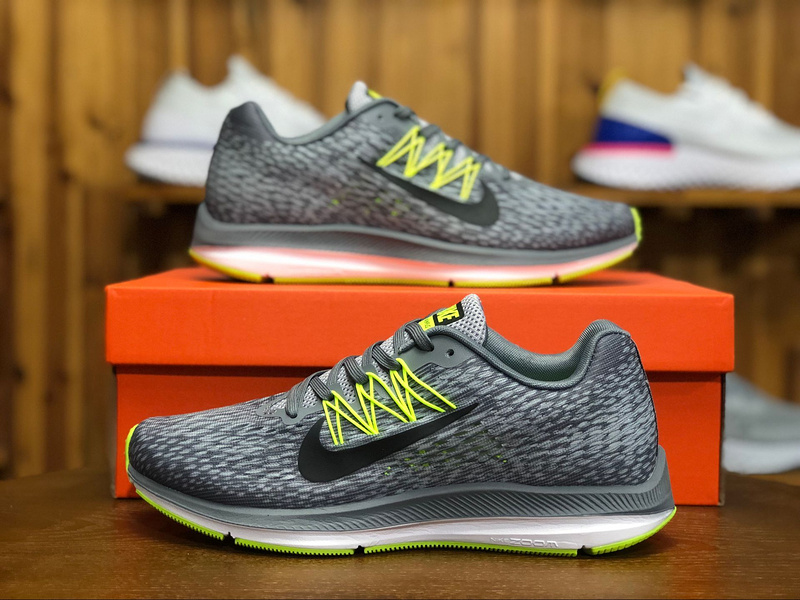 buy online aea07 a1fbe Nike Zoom Winflo 5 Grey Green Mens Running Shoes AA7406-011