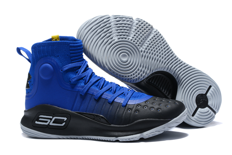 best loved 63ad1 09e8a Under Armour UA Curry 4 IV High Men Basketball Shoes Black Royal Blue New  Special