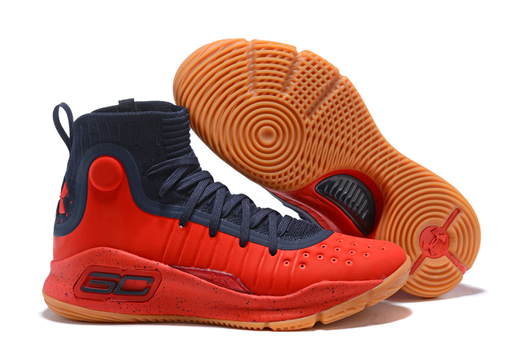d4f05801d091 Under Armour UA Curry 4 IV High Men Basketball Shoes Red Royal Red ...
