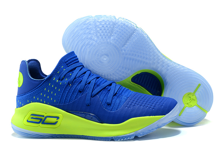 db74ebc164bc Prev Under Armour UA Curry IV 4 Low Men Basketball Shoes Royal Blue Green  1264001