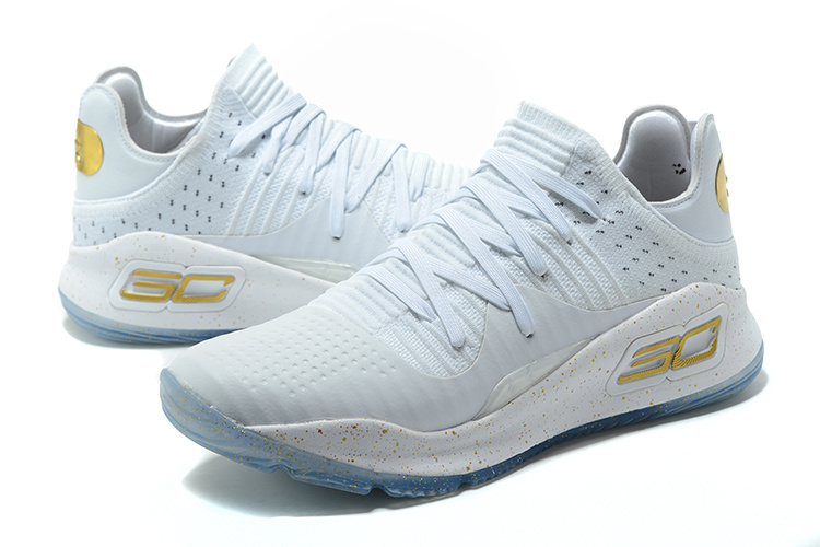 0c8d6fe1183d ... Under Armour UA Curry IV 4 Low Men Basketball Shoes White Gold 1264001  ...
