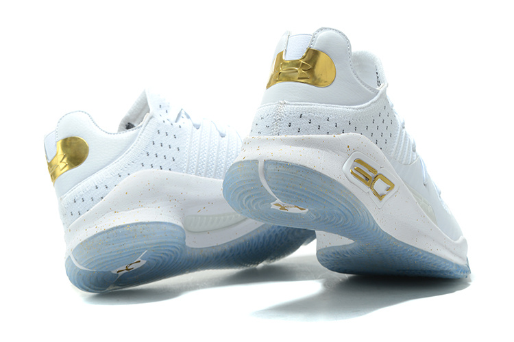 bb485802835c ... Under Armour UA Curry IV 4 Low Men Basketball Shoes White Gold 1264001