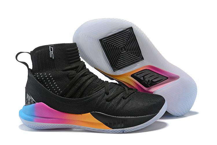 cd71c9080a8d Prev Under Armour UA Curry V 5 High Men Basketball Shoes Black Colored. Zoom